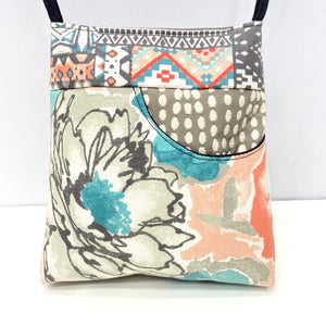 MIILK Bag Flower Inkat Grey/Pink/Blue Pastels