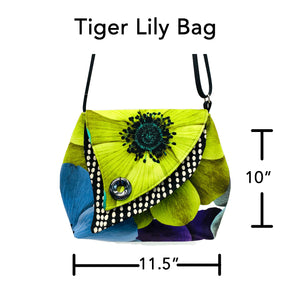 Tiger Lily Bag Blue Watercolor