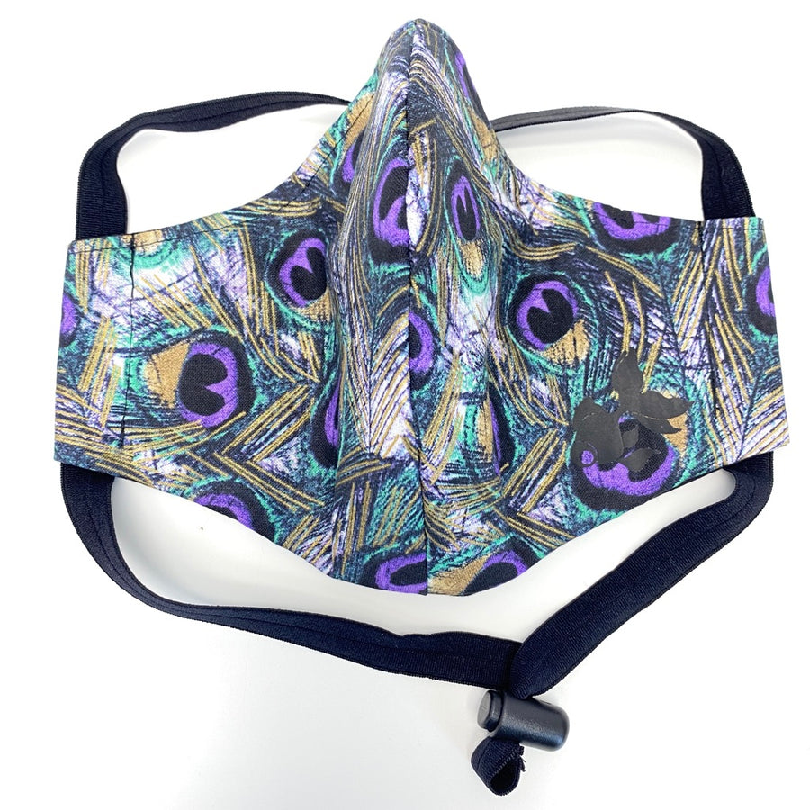 ADULT FACE MASK - Purple Peacock