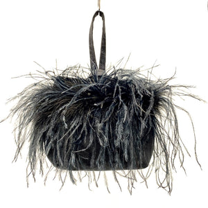 Wristlet Black Ostrich Feathers