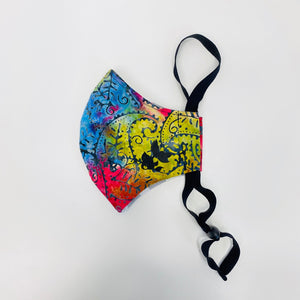 ADULT FACE MASK - Paisley Rainbow Batik