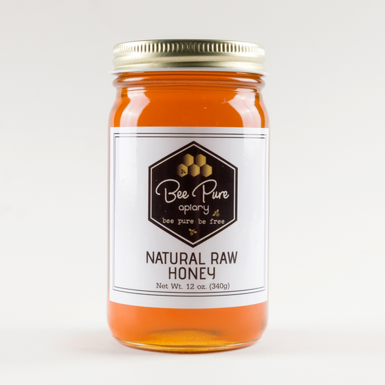Natural Raw Honey 12 oz.