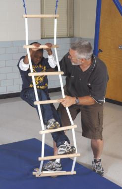 Smooth Grip Ladder for Vestibular Orientation, Solid Birch Plywood and PVC