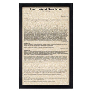 Framed Constitutional Amendments 11-27