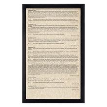 Load image into Gallery viewer, Framed Declaration of Independence, Constitution, Bill of Rights & Constitutional Amendments 11-27 (Complete Set)