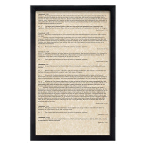 Framed Declaration of Independence, Constitution, Bill of Rights & Constitutional Amendments 11-27 (Complete Set)