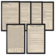 Load image into Gallery viewer, Framed Declaration of Independence Framed Constitution Framed Bill of Rights Parchment Paper Wood Frame Glass Pane