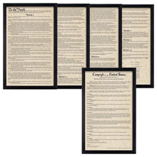 Load image into Gallery viewer, Framed Constitution Framed Bill of Rights Parchment Paper Wood Frame Glass Pane