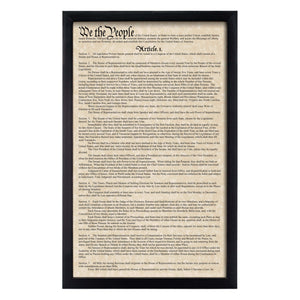 Framed Declaration of Independence & Constitution