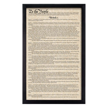 Load image into Gallery viewer, Framed Constitution & Bill of Rights