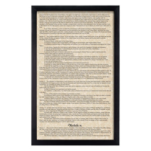 Framed Constitution & Bill of Rights