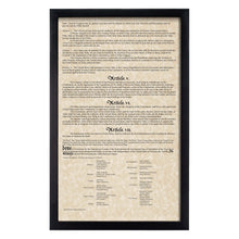 Load image into Gallery viewer, Framed Declaration of Independence & Constitution