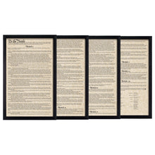 Load image into Gallery viewer, Framed U.S. Constitution Parchment Paper Wood Frame Glass Pane