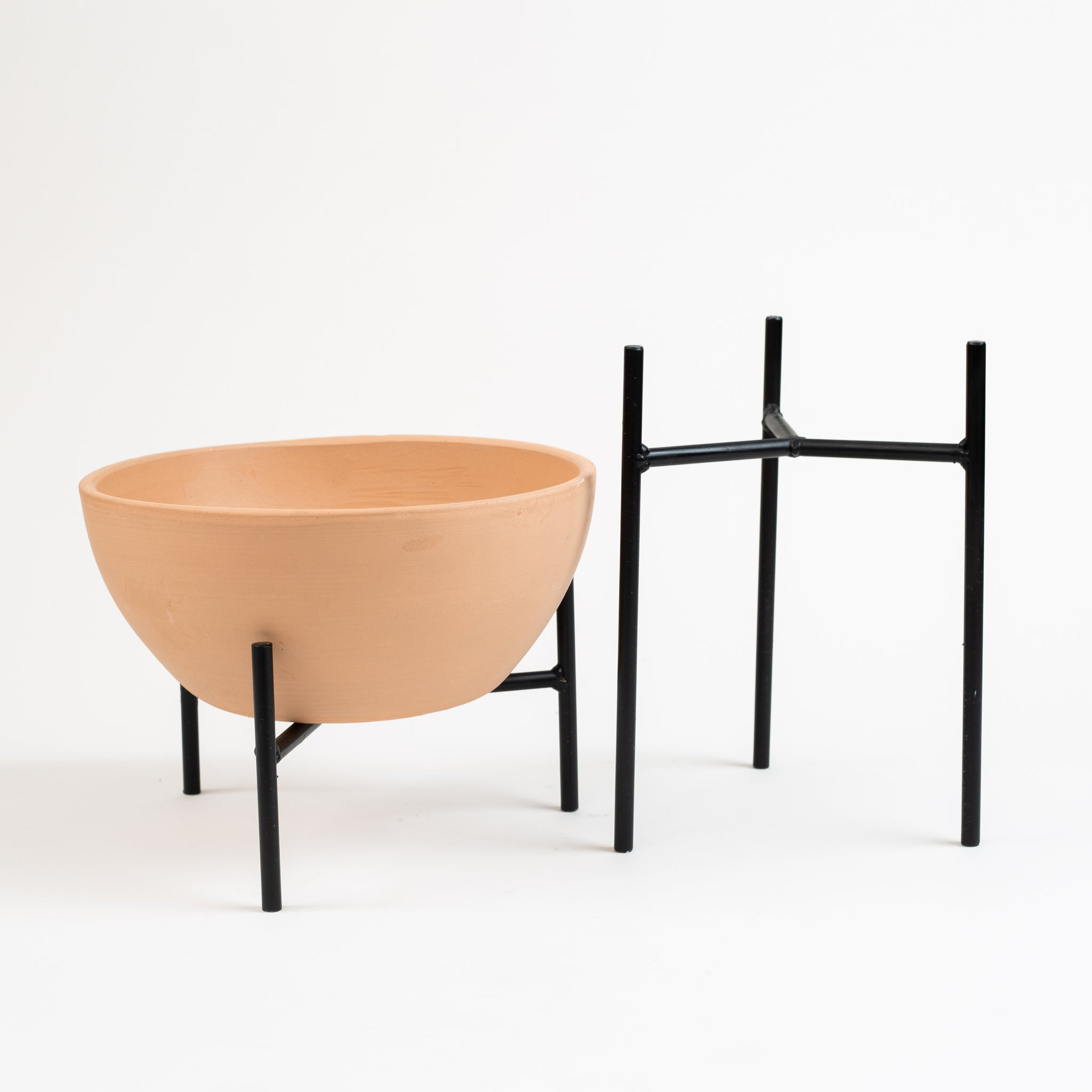 Metal Planter Stand - Matte Black