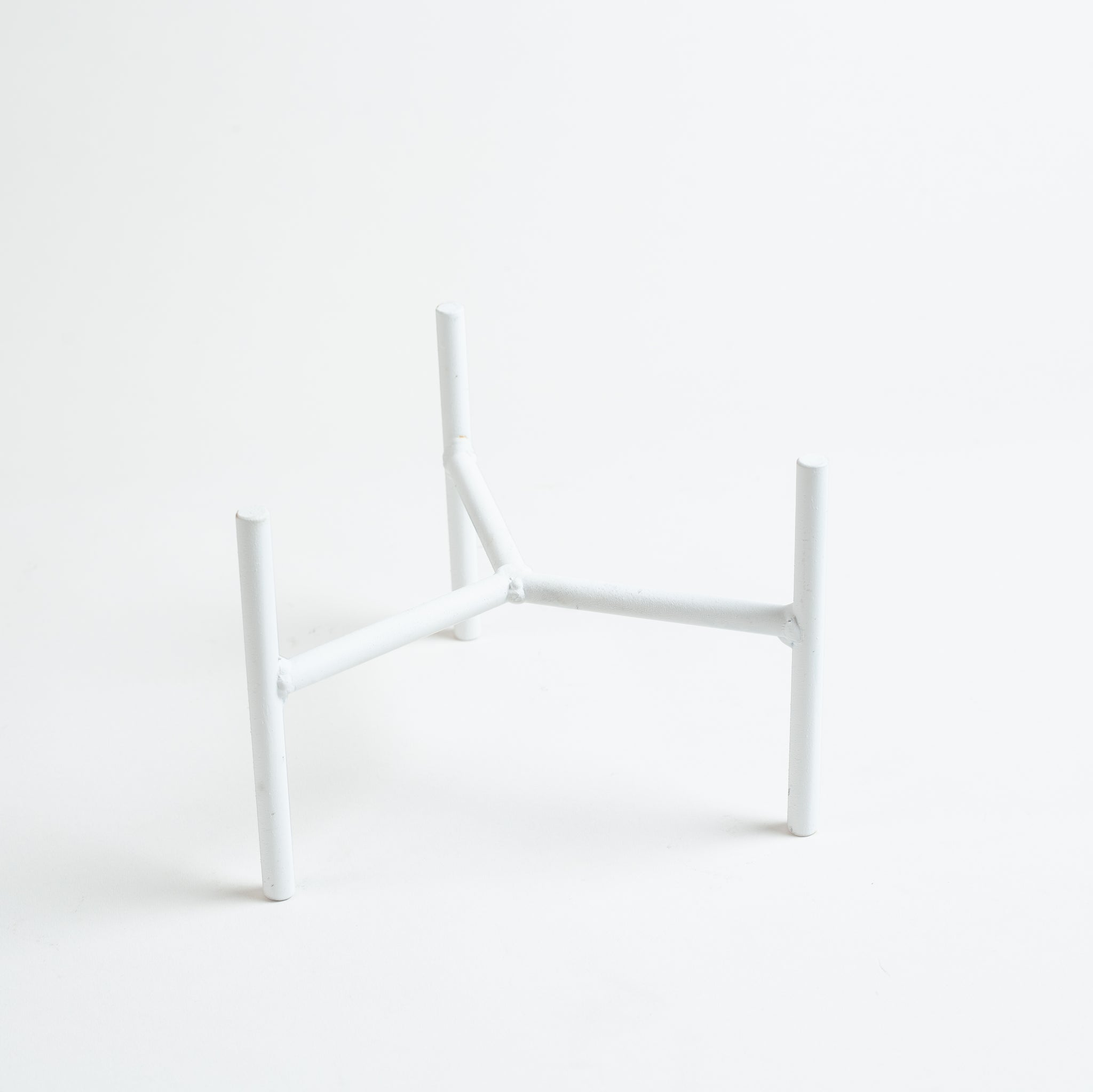 Metal Planter Stand - Matte White