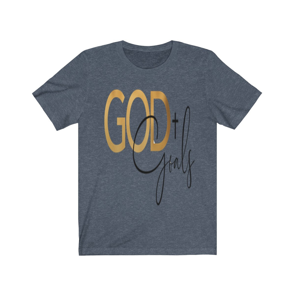 God + Goals Unisex Jersey Short Sleeve Tee