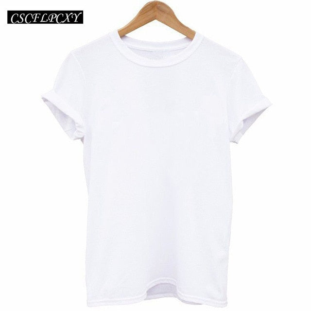Women T Shirts Street Fashion Slim Summer Black T Shirt Women 2017 New Planet Print Casual Slim Women Tops T-Shirts Plus Size