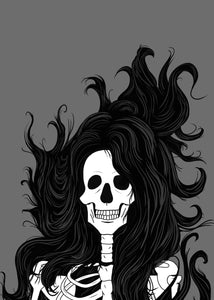 Windswept - A5 Skeleton Art Print