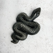 Load image into Gallery viewer, Silver Obsidian Snake
