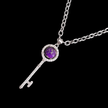 Load image into Gallery viewer, Charoite Key Necklace