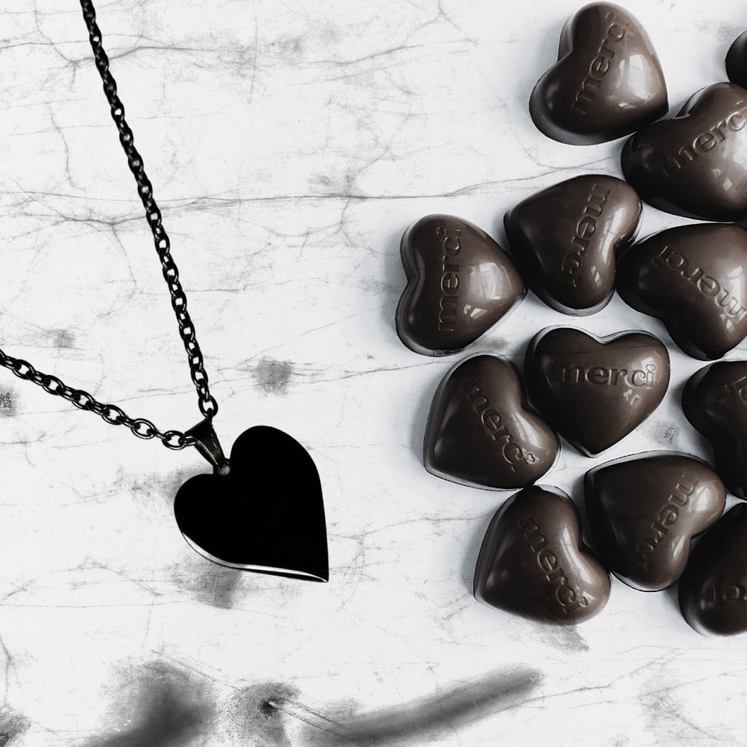 Black Heart Necklace (BEING DISCONTINUED)