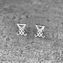 Load image into Gallery viewer, Lucifer: Sigil Stud Earrings