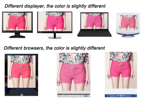 Difference in monitor & browser display color & light effects Juicy-Junk.com