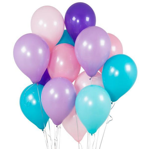 14 Mermaid Party Latex Balloons