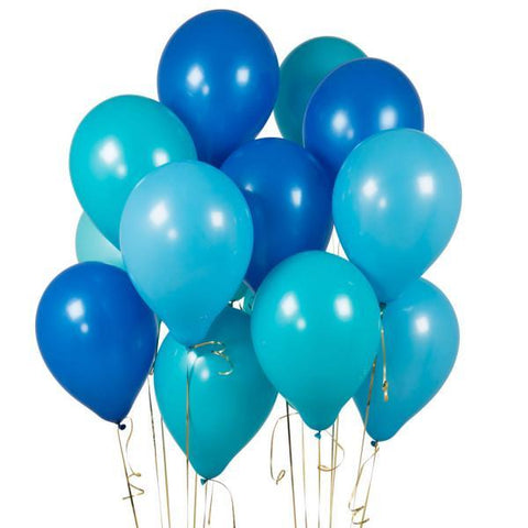 14 Peacock Blue Latex Balloons