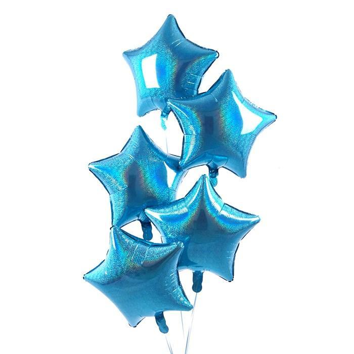 5 Blue Stars Balloon Bouquet