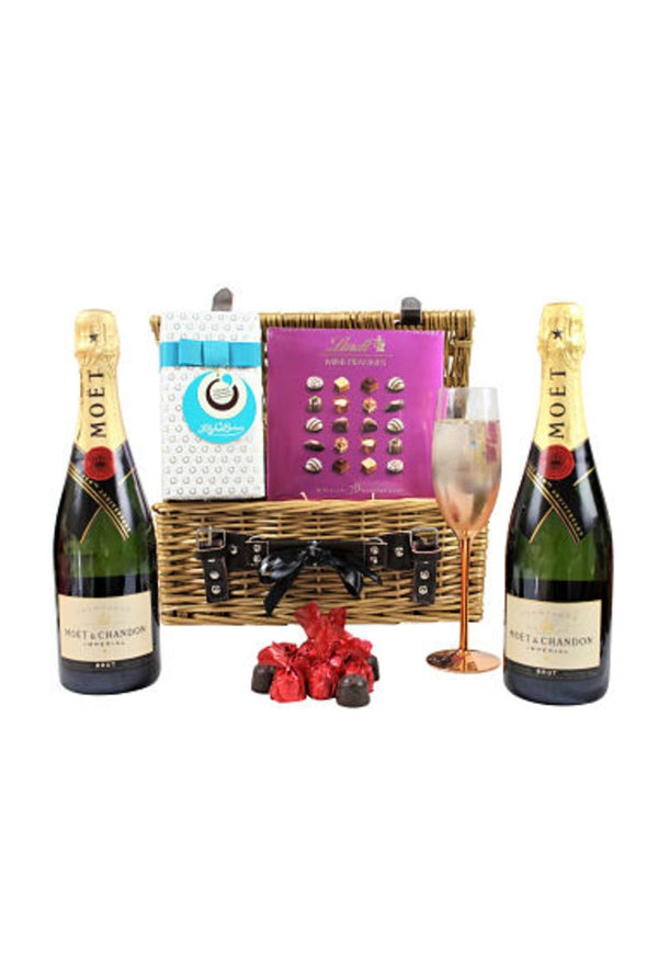 Champagne & Chocolates Gift Hamper Basket