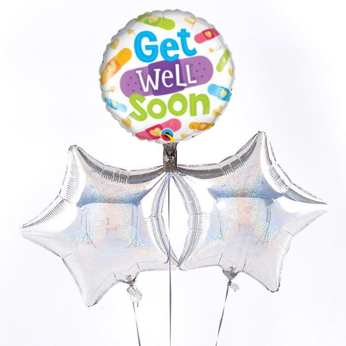 Get Well Soon Bandages Balloon Bouquet