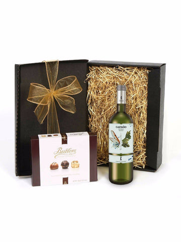 Familia Castano Organic Macabeo with Butlers Chocolate Collection Gift