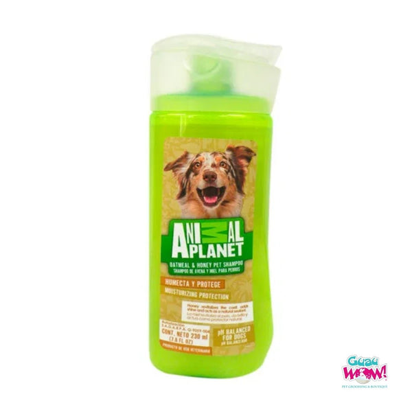 Shampoo Animal Planet Miel y Avena 230 ml