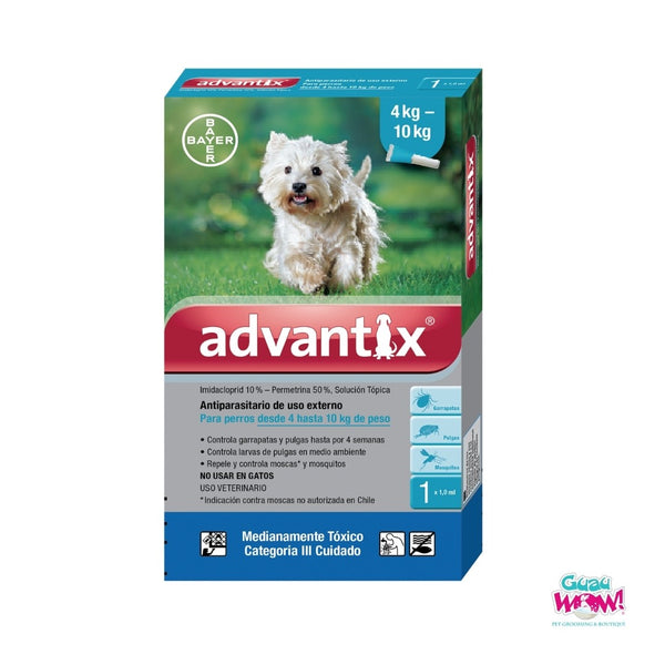 Advantix Perros X 1.0 ml (4-10 kg) (Celeste)
