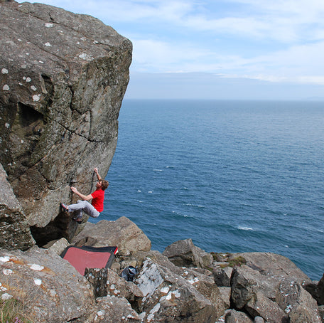 Bouldering at Fairhead