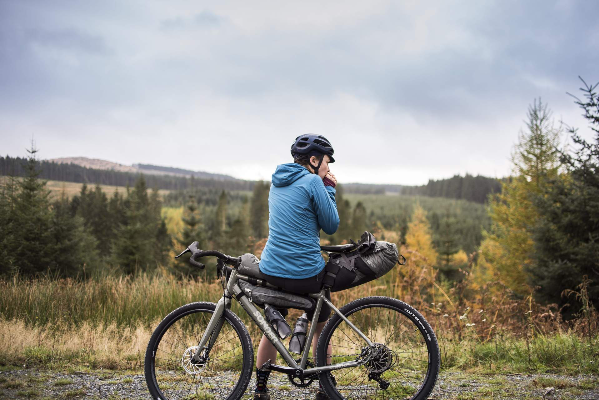 Gravel riding in Galloway Forrest - How To Layer For Cycling