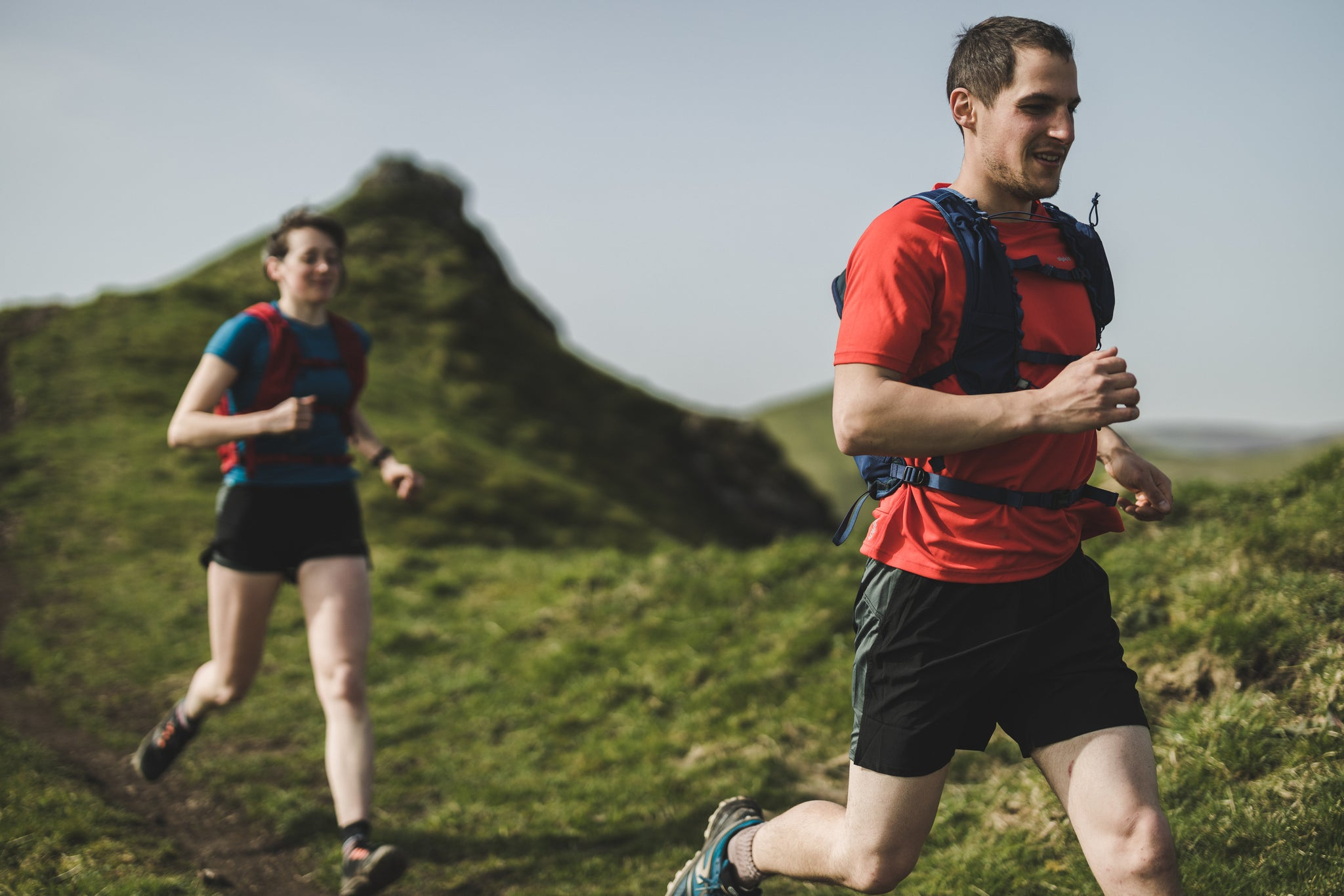 Trail running wicking and fast-drying base layers