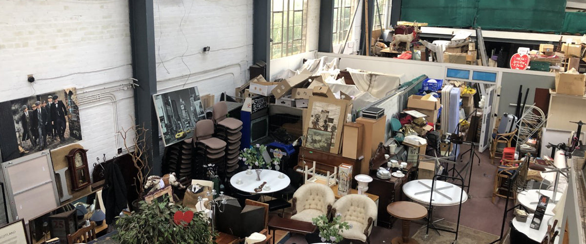 an industrial unit being used for furniture storage before the Alpkit takeover