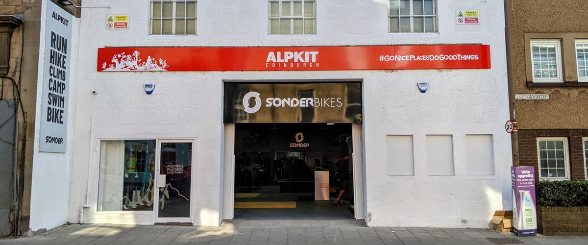 Storefront of Alpkit Edinburgh