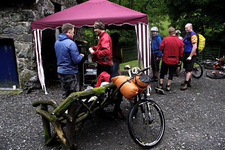 Tea and cake at the end of the Welsh Ride Thing