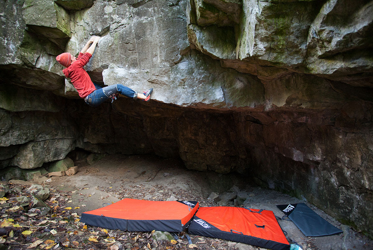 Ron Greenwood climbing Hannibal (7C) - Photo credit: UKC