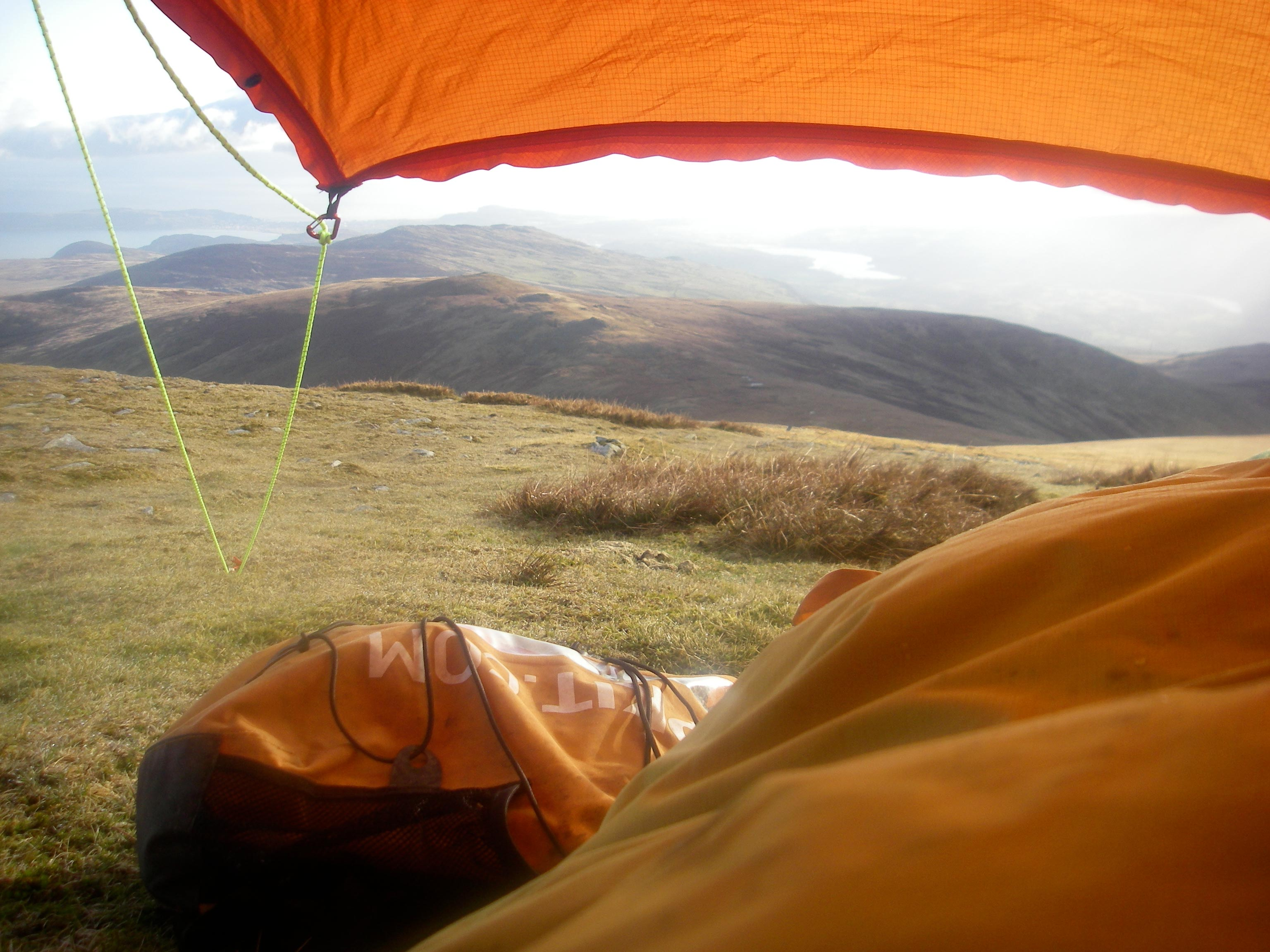 Final bivvy spot on the Welsh 3000