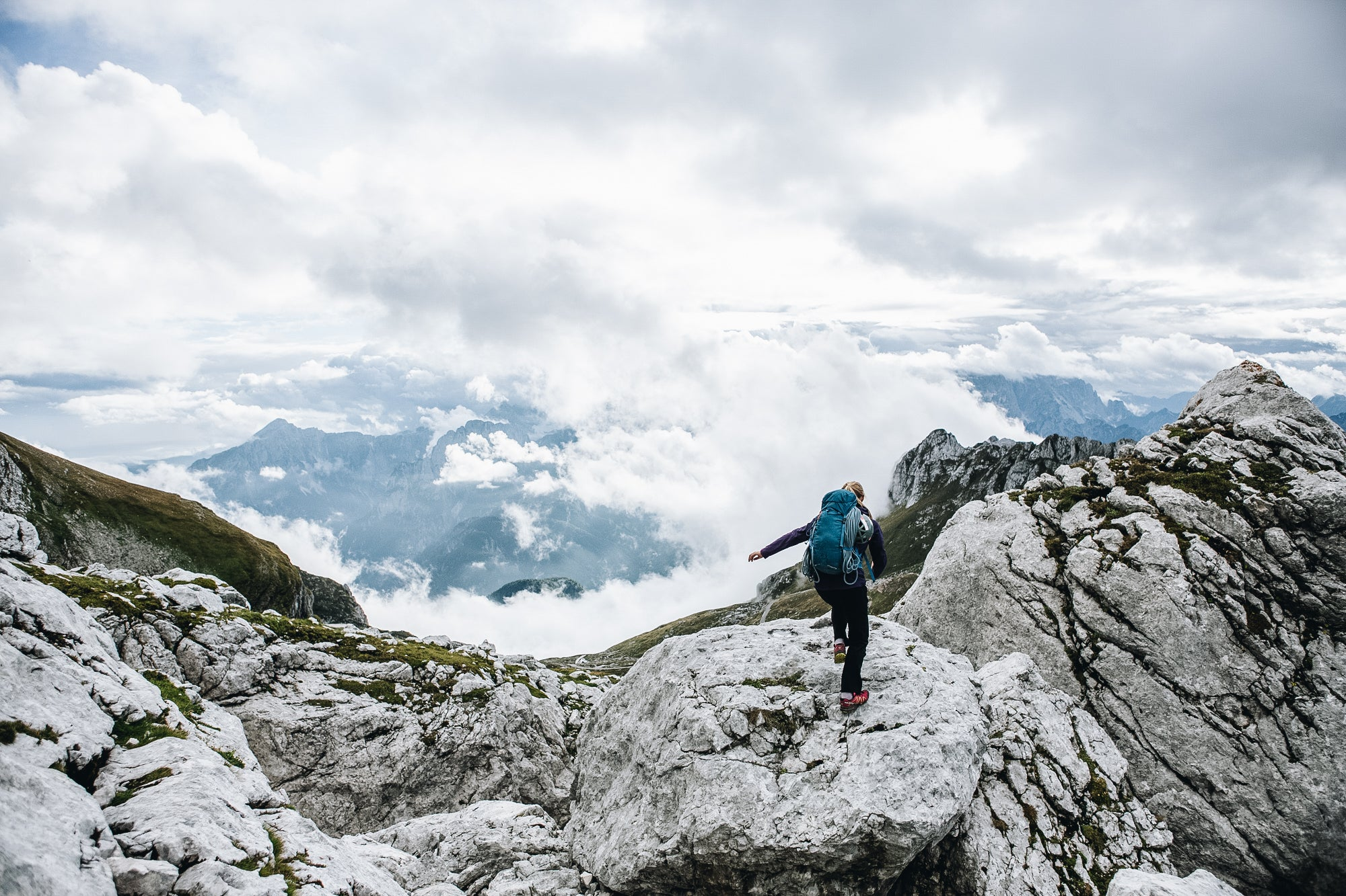Mountaineering in the Slovenian Alps