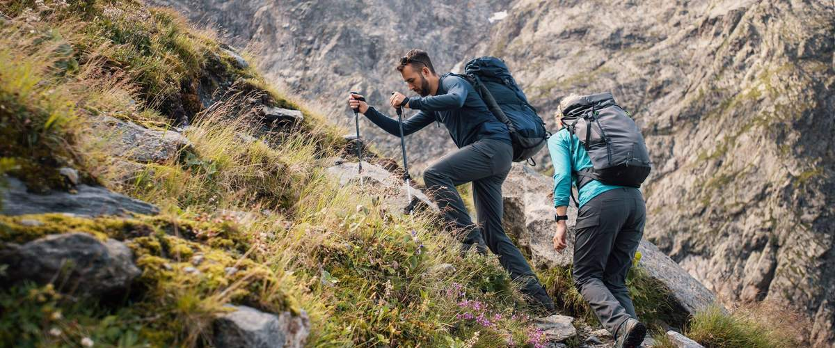 Trekking in the french Alps above Chamonix with the Pacific Crest 65L rucksack