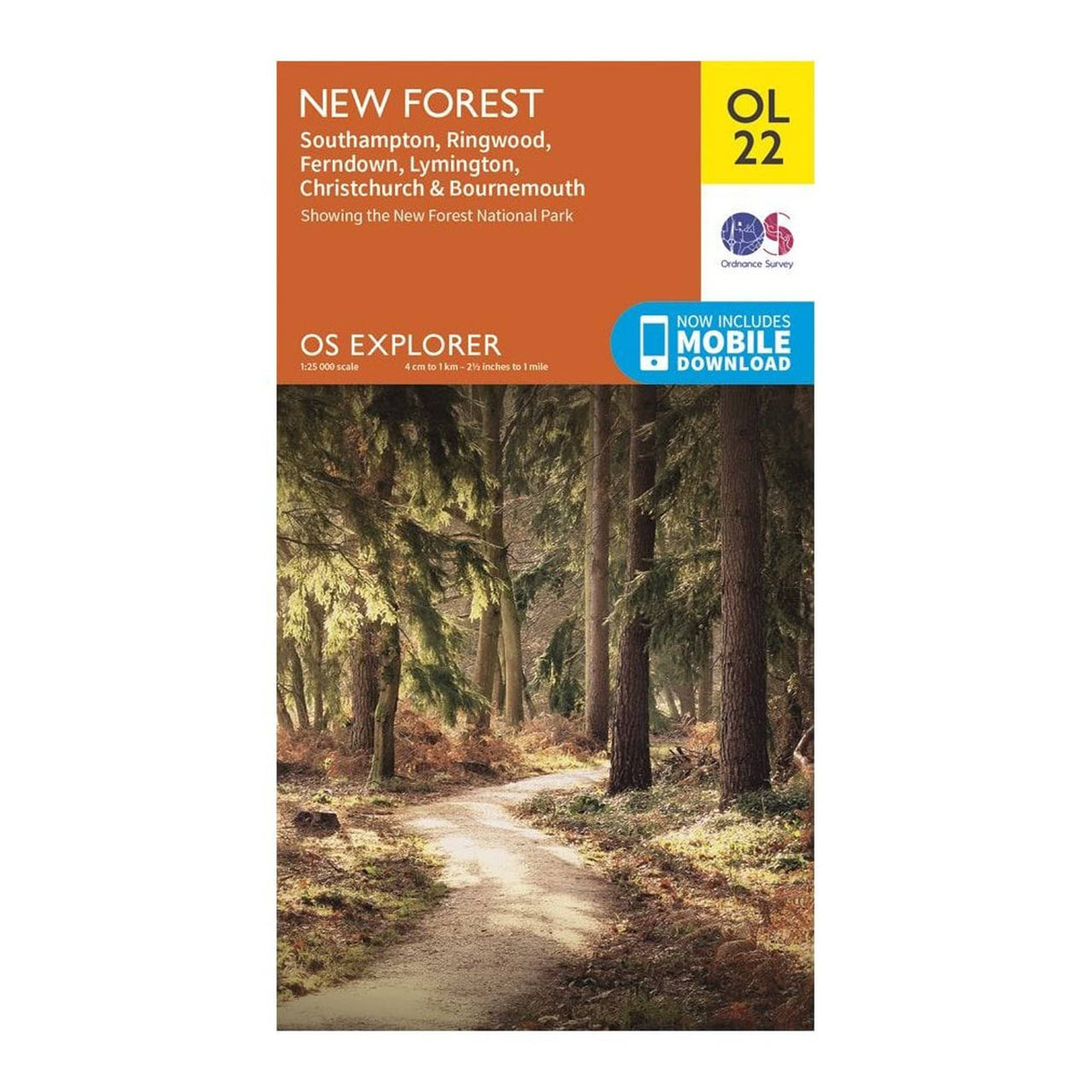 OS Explorer Maps: New Forest, Southampton, Ringwood and Bournemouth