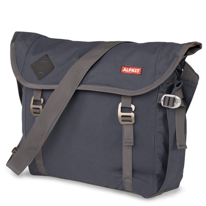 alleycat waxed cotton messenger bag in denim