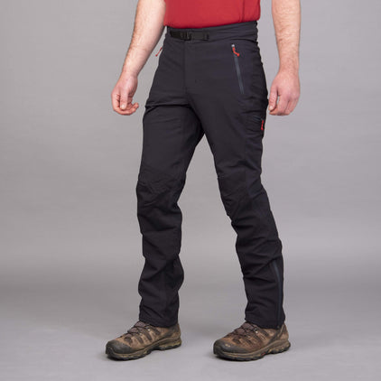 mens ardent softshell trouser pant in black front