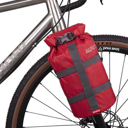 Betonga bikepacking fork bag in red