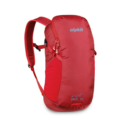 alpkit Gnarl 15L pack in chilli